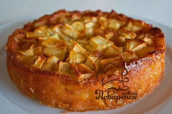 Французская шарлотка с яблоками
