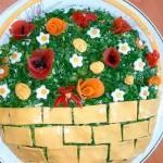 Как оформить салат оливье