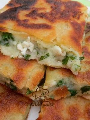 Ленивые кутабы из лаваша - рецепт с сыром