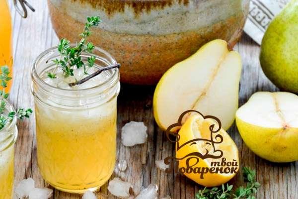 Как сделать домашний лимонад «Натахтари» с грушей и мятой