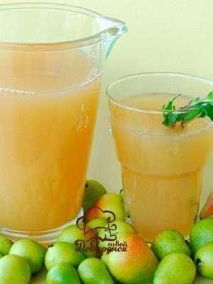 Грушевый домашний лимонад - пошаговый рецепт