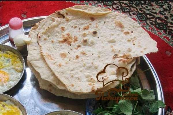 Лаваш тонкий армянский - рецепт на сковороде