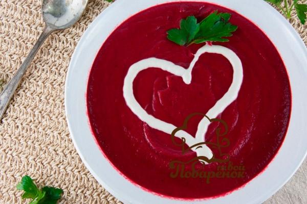 Суп со свеклой без капусты