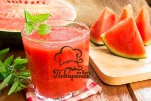 Как сделать сок из арбуза