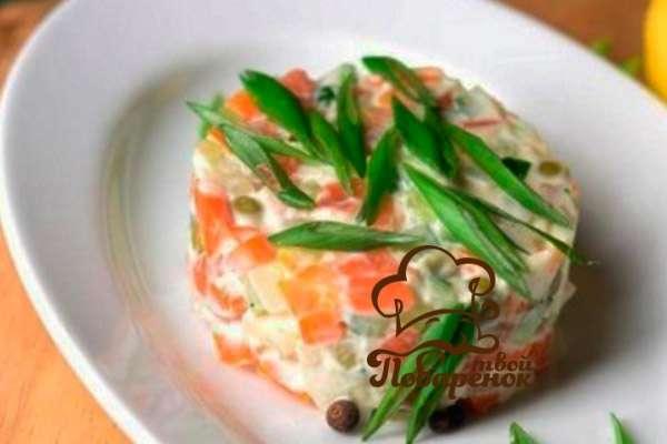 рецепты салата оливье фото продуктов
