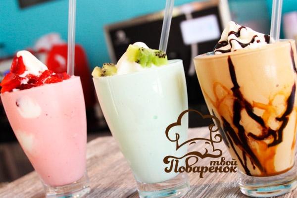 Молочный коктейль в блендере с мороженым рецепт пошагово