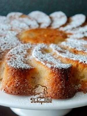 Как приготовить пирог с яблоками без яиц