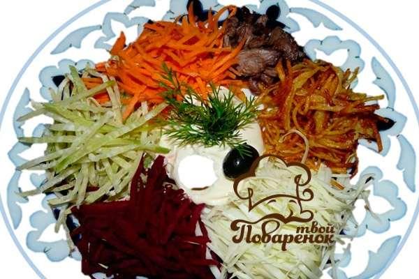 вкусный салат со свеклой рецепт с фото пошагово