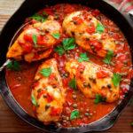 Как потушить курицу на сковородке