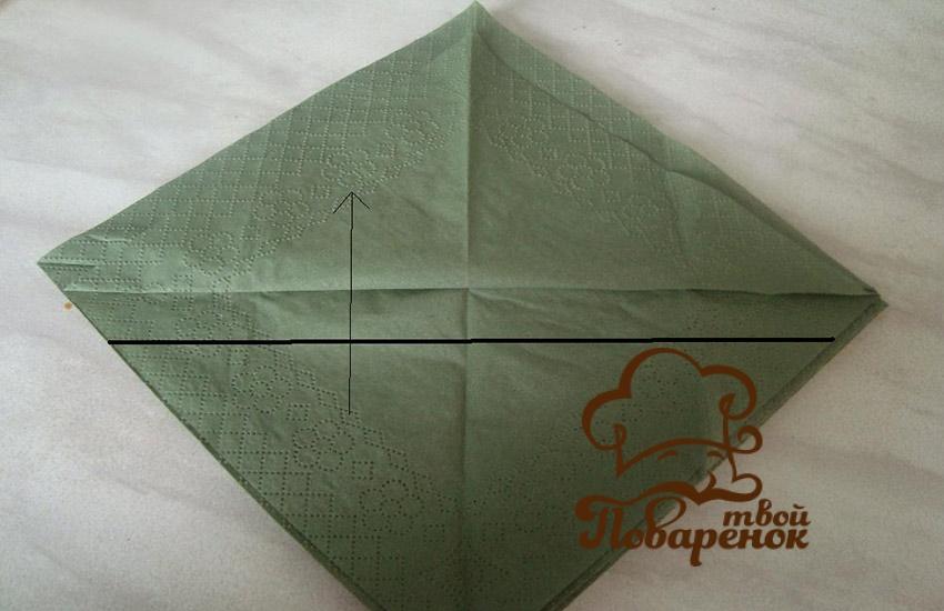 Зеленая бумажная елочка для экологов