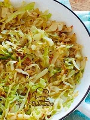 как правильно тушить капусту с мясом в сковороде пошаговый рецепт