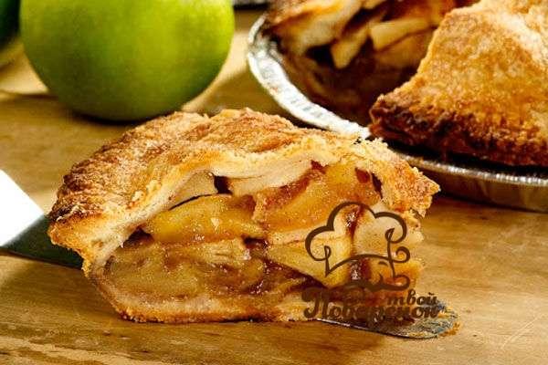 Насыпной пирог с яблоками