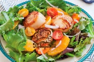 Салат из морских гребешков