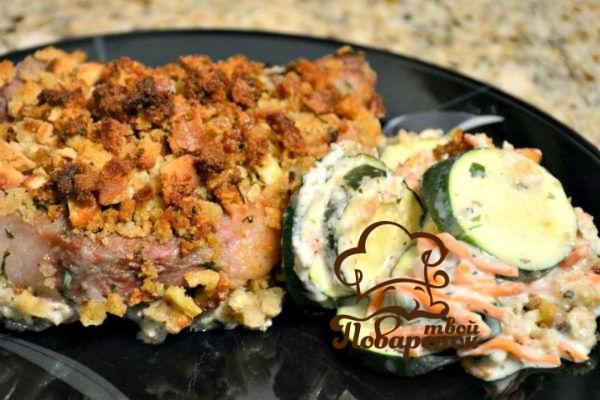 картошка с кабачками в духовке с курицей рецепт