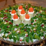 Салат новогодние свечи слоями