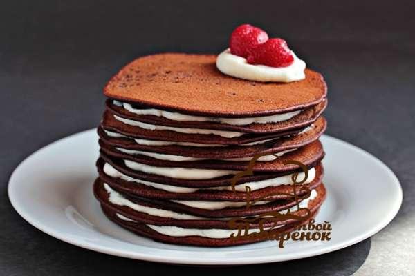 Домашний пошаговый рецепт торта из панкейков