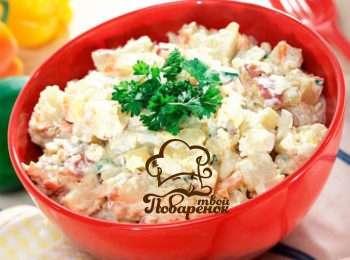 Министерский салат с блинами рецепт с фото пошагово