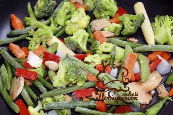 Как правильно жарить овощи на сковородке