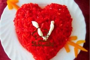 Салаты на 14 февраля - День святого Валентина