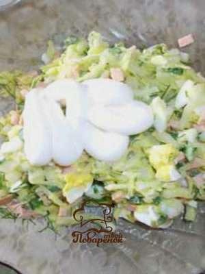 Как приготовить классическую окрошку с колбасой на майонезе