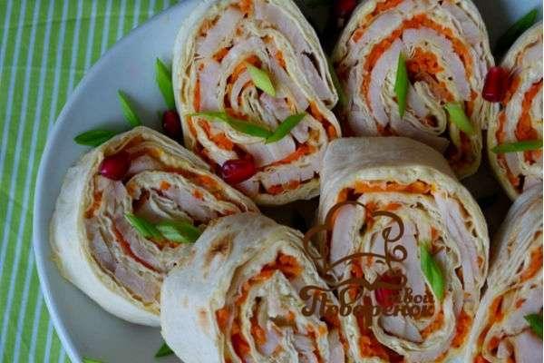Домашние роллы рецепт с фото из лаваша