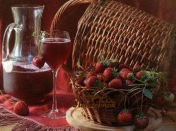 вино из забродившего клубничного варенья