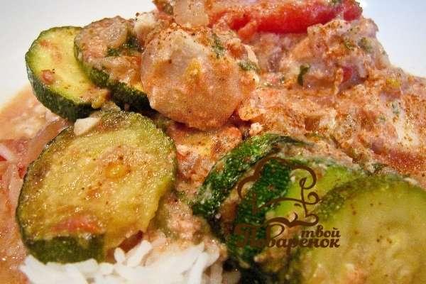 Мясо с баклажанами и кабачками в мультиварке рецепты с фото