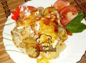 Картошка по французски на сковороде