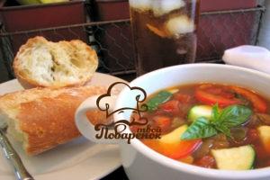 Суп с кабачками и капустой