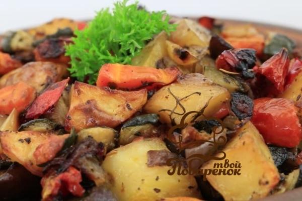 кабачки помидоры морковь рецепт в духовке