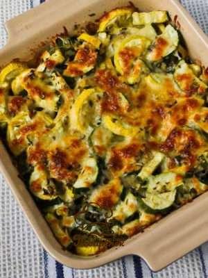 Кабачки, запеченные в духовке с овощами - домашний рецепт