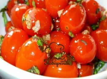 Малосольные помидоры рецепт с чесноком