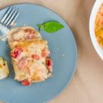 Лазанья с курицей и овощами