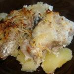 Рыба по-французски с картошкой в духовке