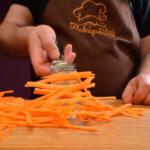 Как резать морковь соломкой фото и видео