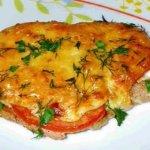 Мясо по-французски с курицей и картошкой
