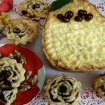 Открытый пирог с творогом и вишней: рецепт с фото