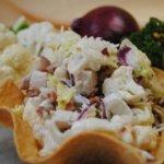 Салат с цветной капустой и курицей