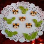 Украшение для торта из мастичного тигра